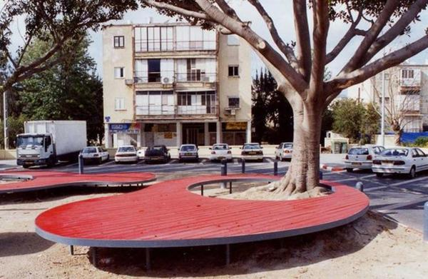 """2002.  Tel-Aviv, Israel.  TeMa Architects.  """"Though the Yad Eliyah neighborhood in Tel Aviv-Yafo is imbued with public parks and play areas, these places are intended almost exclusively for toddlers and young children. We therefore sought to design a space that will cater to the needs of borough's adolescents.""""  http://www.temaland.com/detail.asp?ID=Eng103_116_325"""