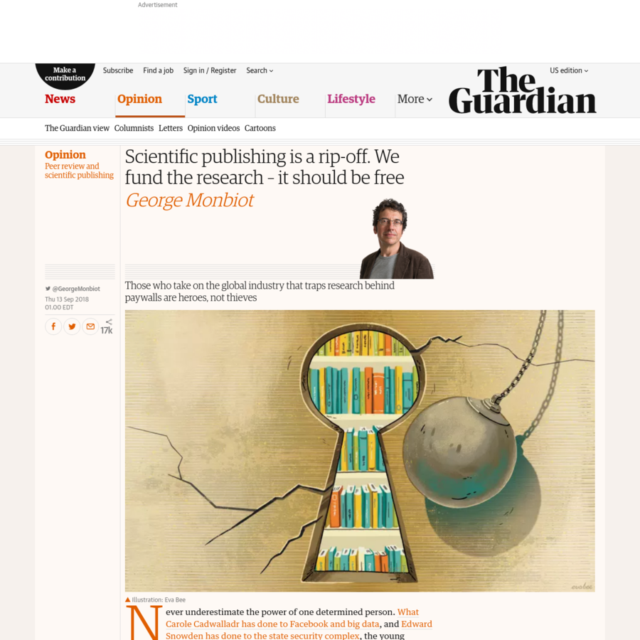 Those who take on the global industry that traps research behind paywalls are heroes, not thieves, says George Monbiot