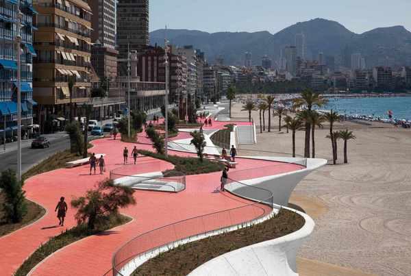 Benidorm West Beach Promenade