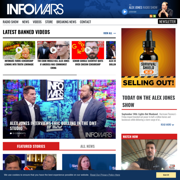 Alex Jones' Infowars: There's a war on for your mind!