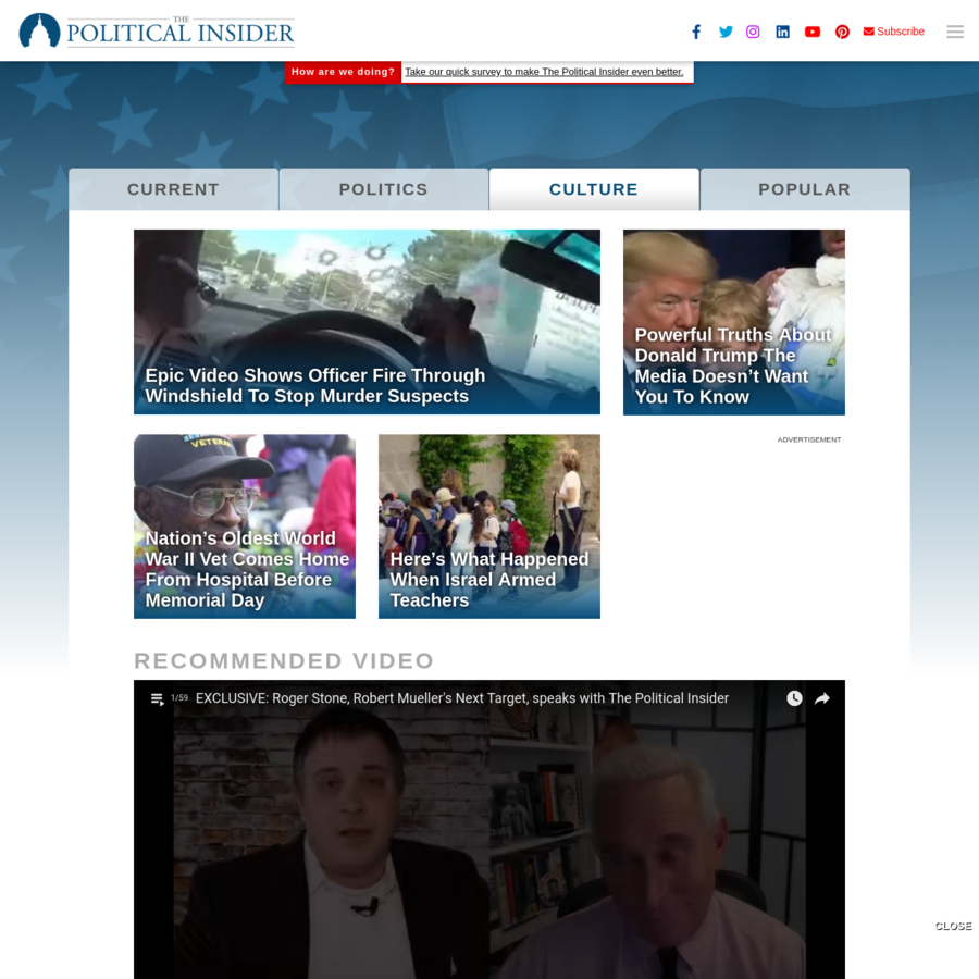 The Political Insider connects you to the pulse of all things newsy and noteworthy. We are your inside connection to influencers and politicos around DC, in the media, and beyond.