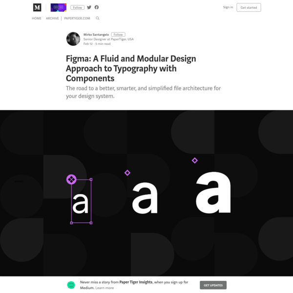 Figma: A Fluid and Modular Design Approach to Typography with Components