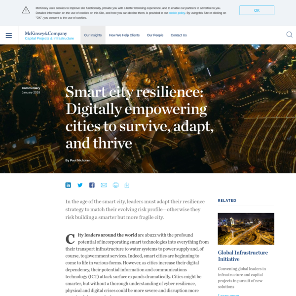 Smart city resilience: Digitally empowering cities to survive, adapt, and thrive