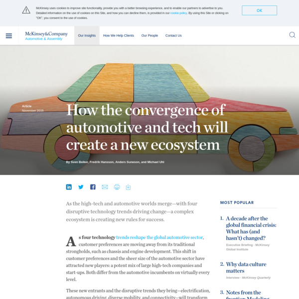 How the convergence of automotive and tech will create a new ecosystem