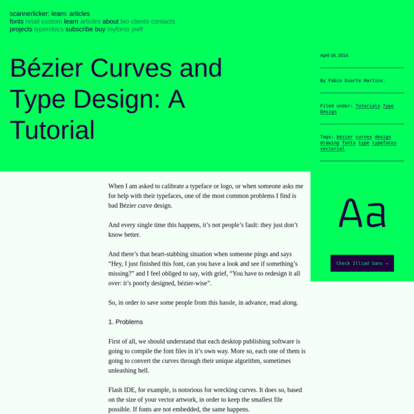 Bézier Curves and Type Design: A Tutorial   Learn - Scannerlicker!