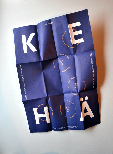 Poster for Kehä exhibition. Design by 0ffsh0.re