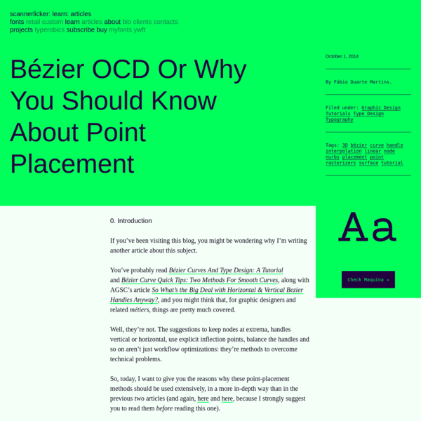 Bézier OCD Or Why You Should Know About Point Placement   Learn - Scannerlicker!