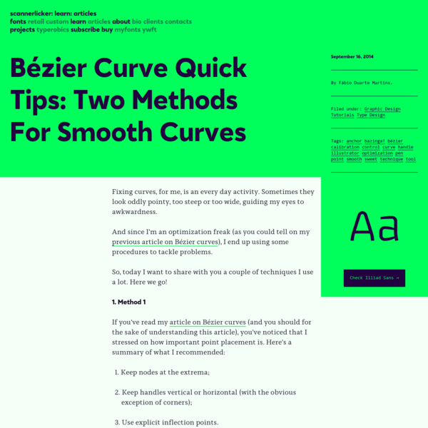 Bézier Curve Quick Tips: Two Methods For Smooth Curves   Learn - Scannerlicker!