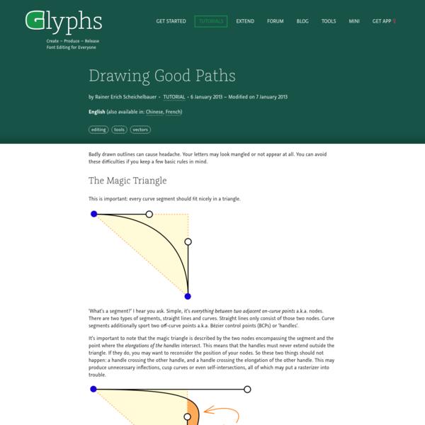 Drawing Good Paths   Glyphs