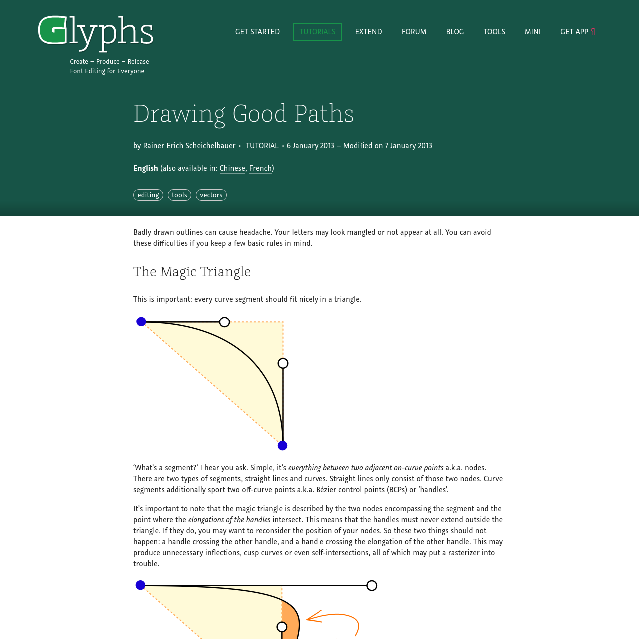 Are na / Drawing Good Paths | Glyphs