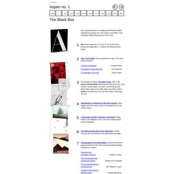 Aspen no. 1: The Black Box