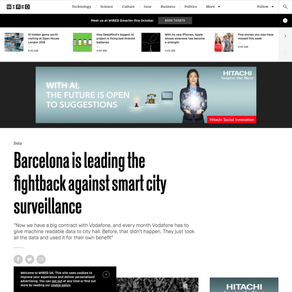 Barcelona is leading the fightback against smart city surveillance