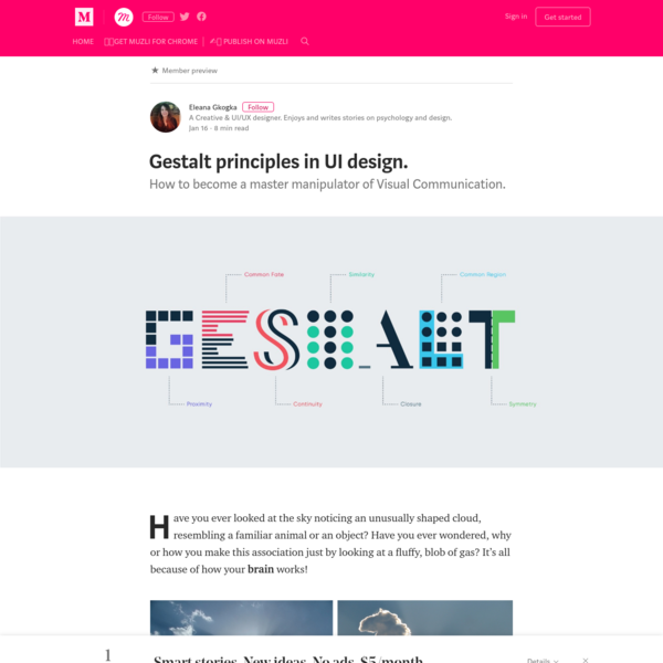 Gestalt principles in UI design. - Muzli - Design Inspiration