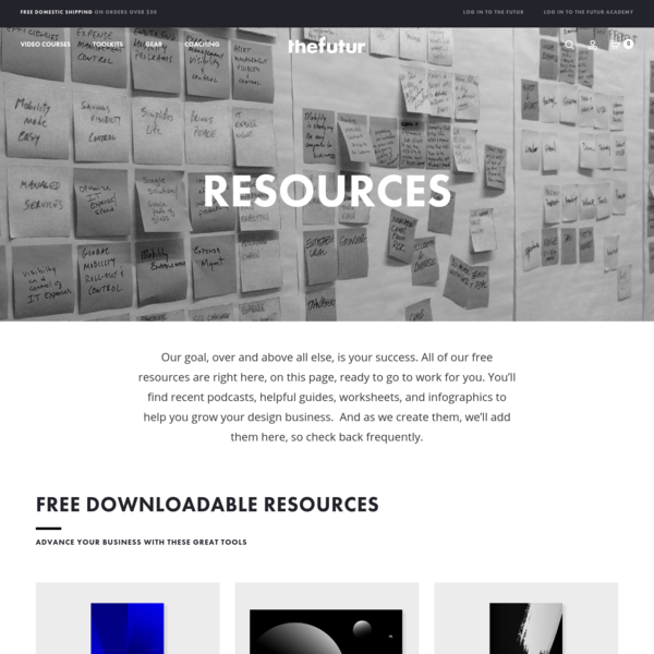Our goal, over and above all else, is your success. All of our free resources are right here, on this page, ready to go to work for you. You'll find recent podcasts, helpful guides, worksheets, and infographics to help you grow your design business.