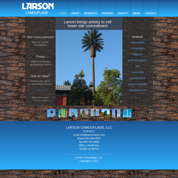 Larson Camouflage - A Leader in Cell Tower Site Concealment, Camouflaged Cell Towers and Stealth Cell Towers. Our disguised ...