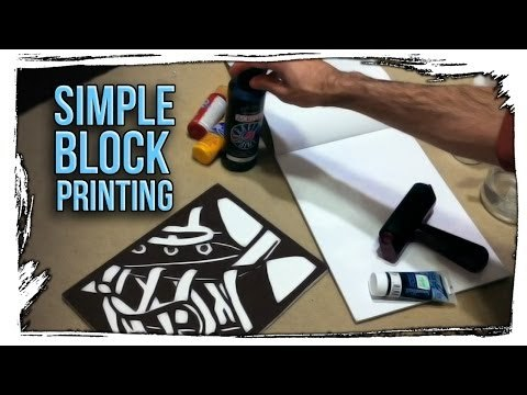 Simple Block Printing - [tutorial]