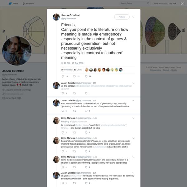 Jason Grinblat on Twitter