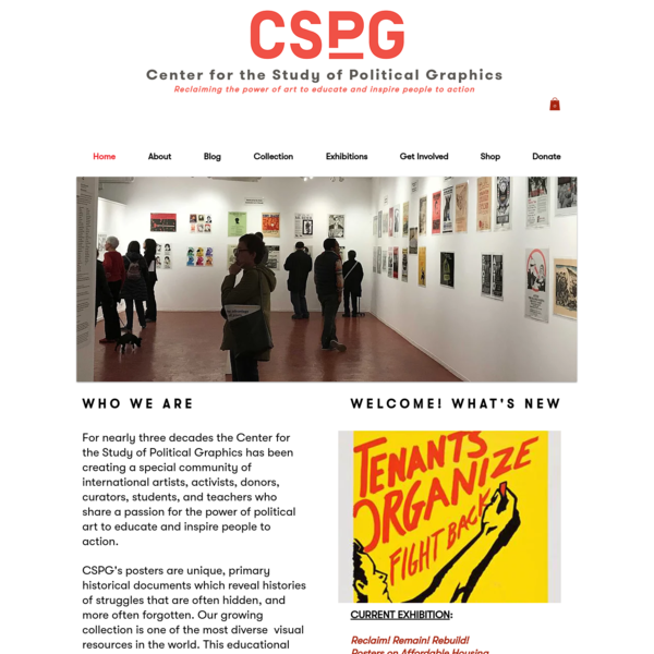 The Center for the Study of Political Graphics is an expansive visual art resource and historical archive located in Los Angeles, California.