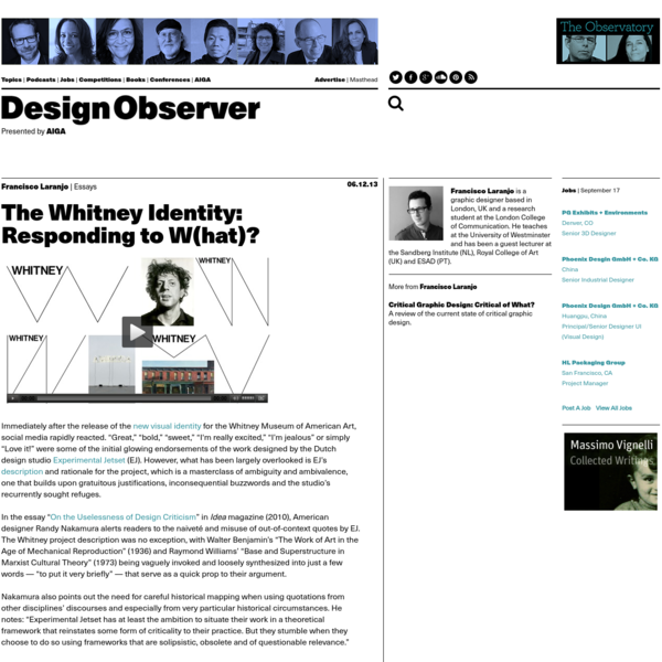 The Whitney Identity: Responding to W(hat)?