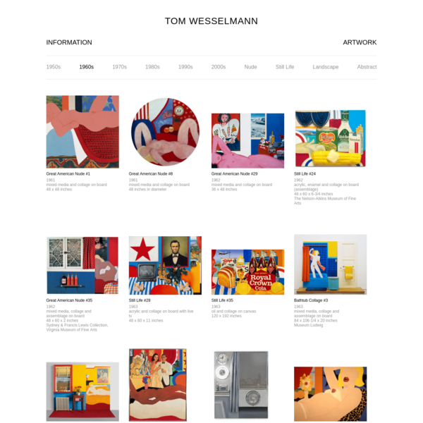 © 2018 The Estate of Tom Wesselmann. All Rights Reserved.