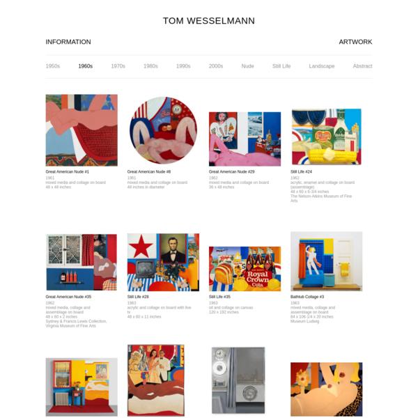Artwork 1960s - The Estate of Tom Wesselmann