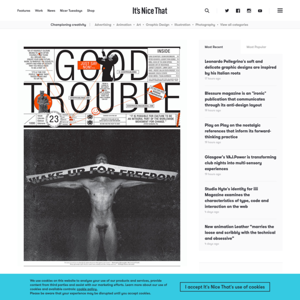 Richard Turley and Rod Stanley discuss protest broadsheet, Good Trouble