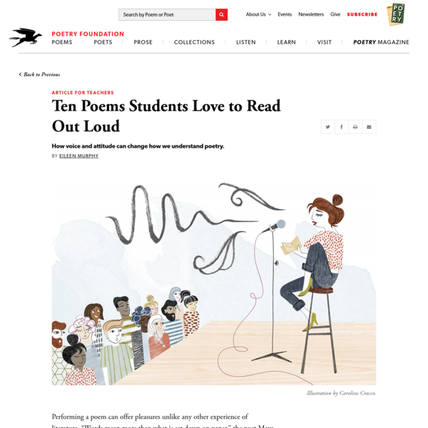 """Performing a poem can offer pleasures unlike any other experience of literature. """"Words mean more than what is set down on paper,"""" the poet Maya Angelou has written. """"It takes the human voice to imbue them with the shades of deeper meaning."""""""