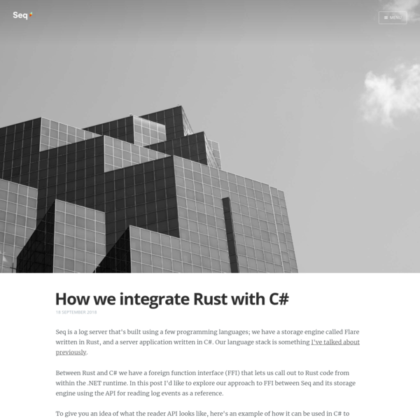 How we integrate Rust with C#