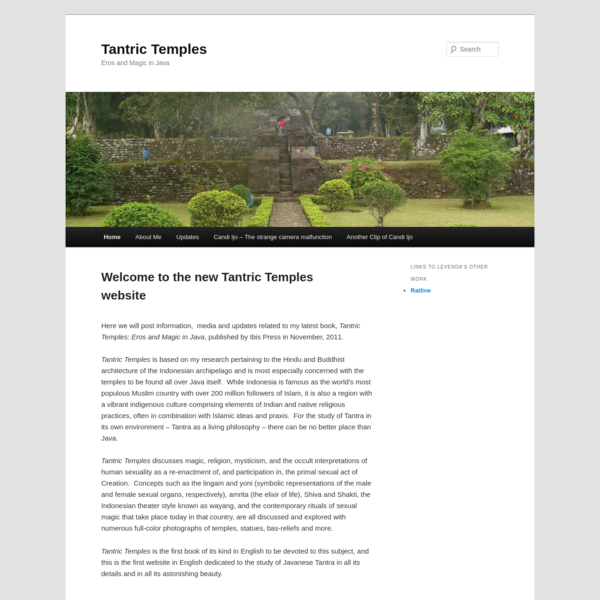 Here we will post information, media and updates related to my latest book, Tantric Temples: Eros and Magic in Java, published by Ibis Press in November, 2011. Tantric Temples is based on my research pertaining to the Hindu and Buddhist architecture of the Indonesian archipelago and is most especially concerned with the temples to be found all over Java itself.