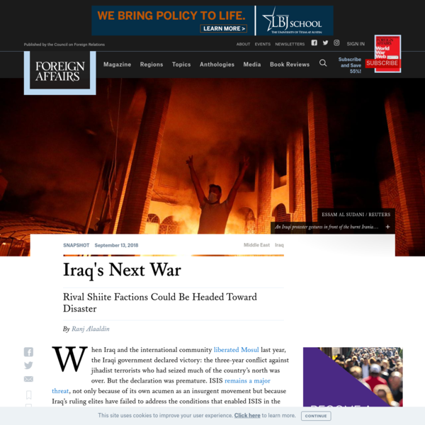 Iraq's Next War