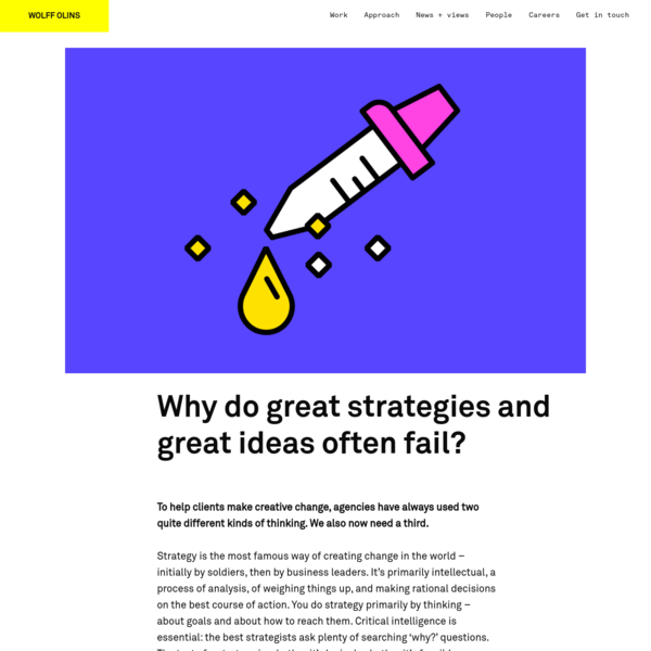Why do great strategies and great ideas often fail?
