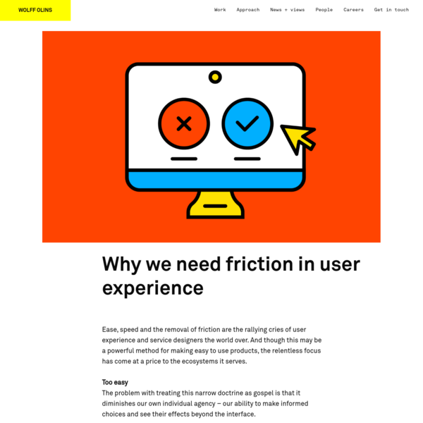 Why we need friction in user experience
