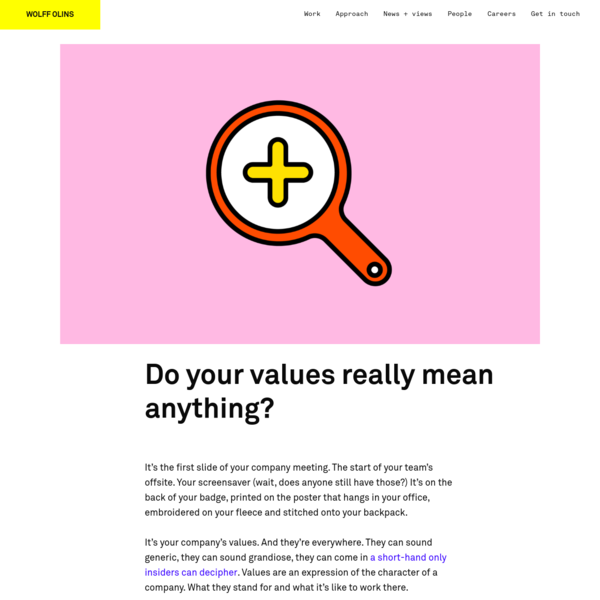 Do your values really mean anything?