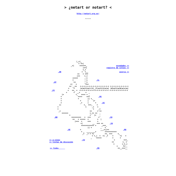 netart latino database ---> you connect the dots >> you pick up the pieces ! ]