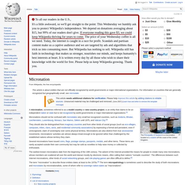 Micronation - Wikipedia