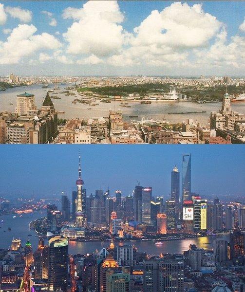 Shanghai, 1990 vs. 2010