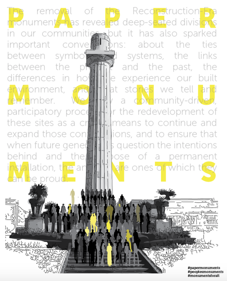 [Paper Monuments](https://www.papermonuments.org/) is a public art and public history project designed to elevate the voices of the people of New Orleans as a critical process towards creating new narratives and symbols that represent the city's collective vision, and to honor the erased histories of the people, places, movements, and events that have made up the past 300 years, looking to the future.  Designer: [Bryan C. Lee](https://colloqate.org/) Year: 2017 Location: New Orleans, LA Image credit: Paper Monuments  Presented at [IdeasCity Toronto](http://www.ideas-city.org/ideascity-toronto/about/)