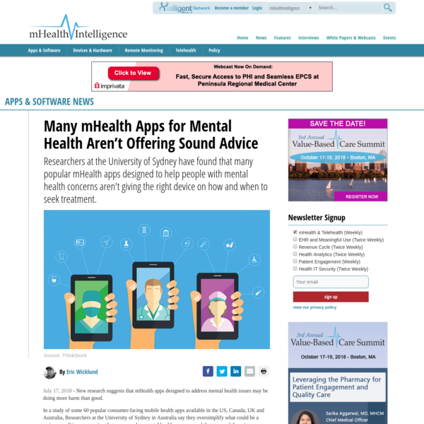 Many mHealth Apps for Mental Health Aren't Offering Sound Advice