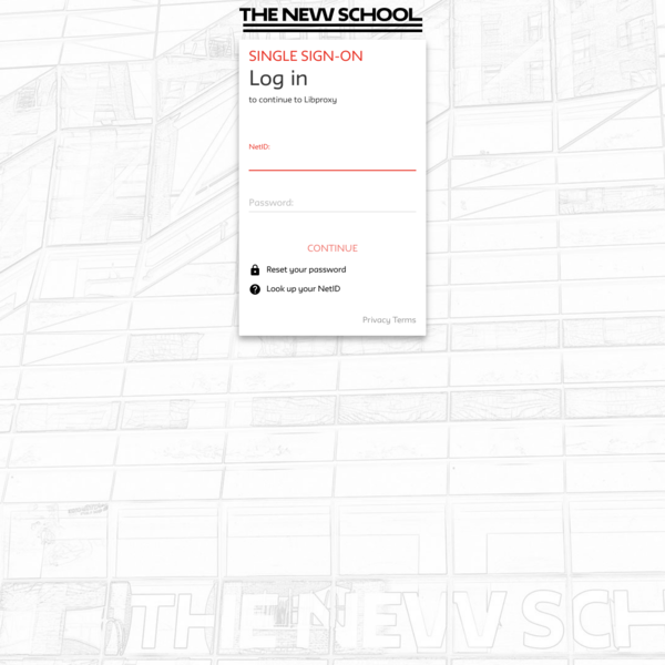 Log in - New School SSO