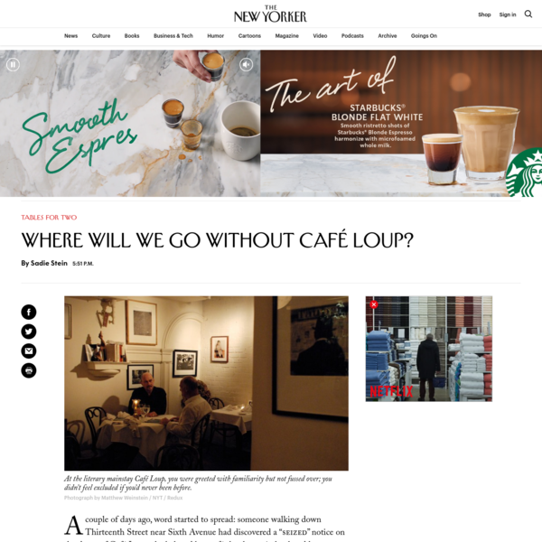 Where Will We Go Without Café Loup?