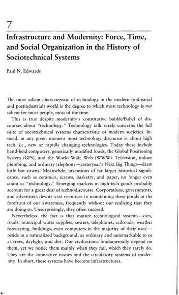 Paul Edwards, Infrastructure and Modernity