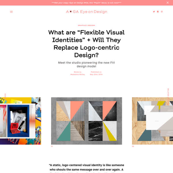 """What are """"Flexible Visual Identities"""" + Will They Replace Logo-centric Design?"""