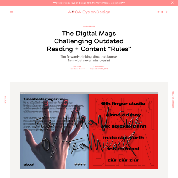 """The Digital Mags Challenging Outdated Reading + Content """"Rules"""""""