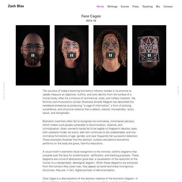 Face Cages | Zach Blas