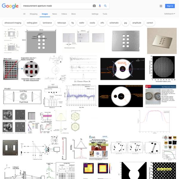 measurement aperture mask - Google Search