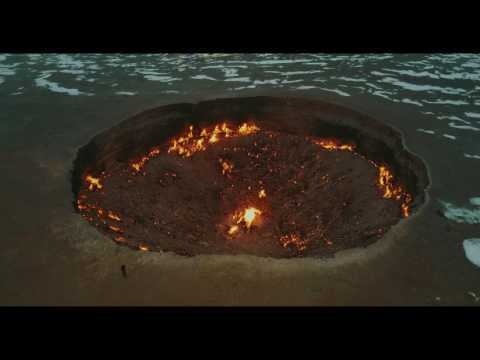 Door to Hell (Gate of Hell)  Turkmenistan gas crater 4k drone