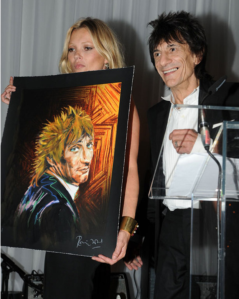 Rod Stewart, again, with Kate Moss