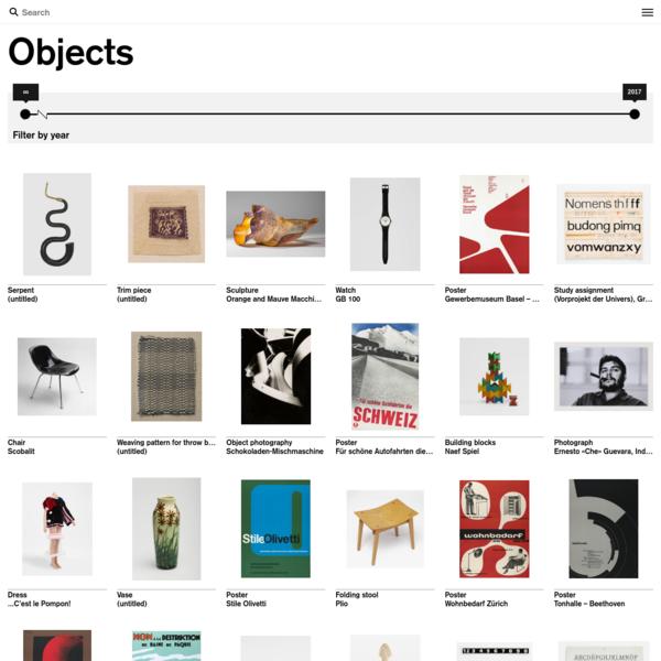 Objekte   Museum für Gestaltung eGuide