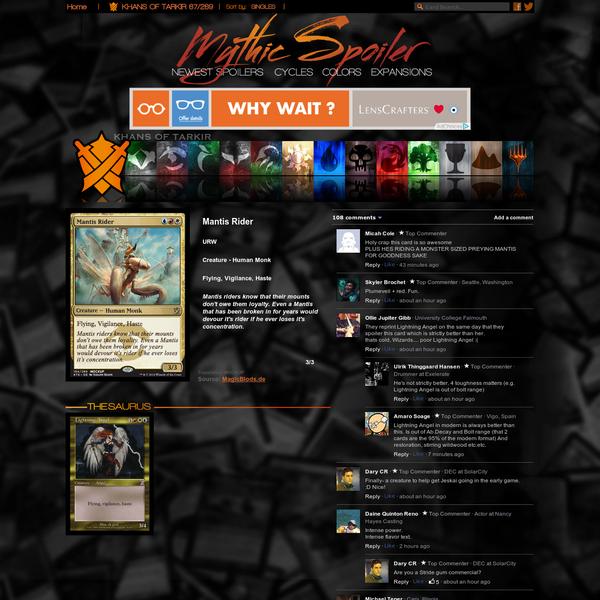 Mantis Rider | KHANS OF TARKIR Visual Spoiler