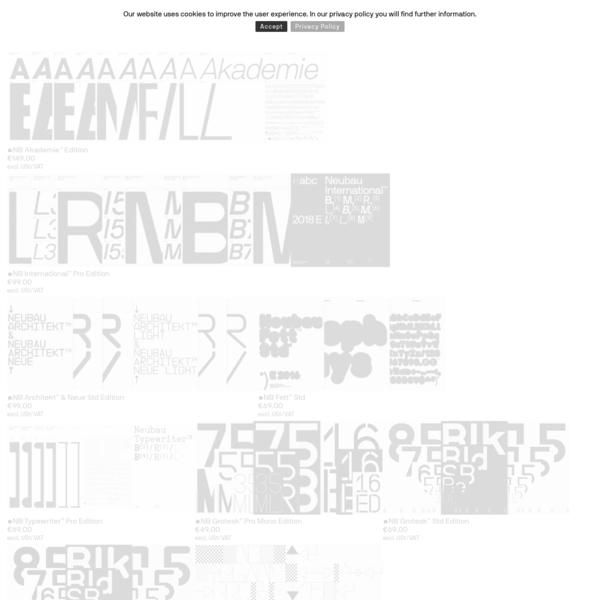 NBL - Product categories Typefaces